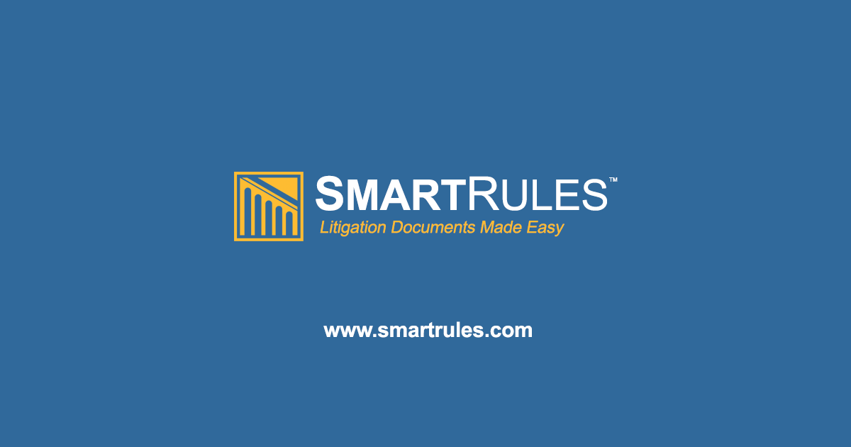 Mississippi Rules Of Civil Procedure >> Smartrules Rules Of Civil Procedure Court Rules Litigation